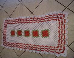 passadeira vermelha de croch�