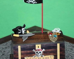 Ba�/cofre MDF Piratas do Caribe