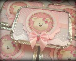 Marmitinha Ursa Rosa e Branco Proven�al