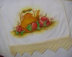 Guardanapo pintado com bico de croch�