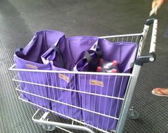 sacolas para compras, kit de sacolas