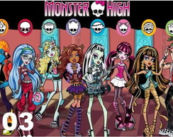 Adesivo De Parede Painel Monster High