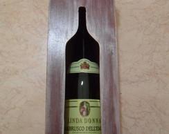 Caixa p/ vinho em mdf com tampa