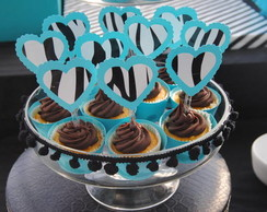 TOPPERS CUPCAKES ZEBRA