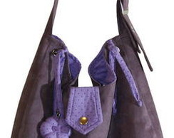 Bolsa tecido camur�a lil�s