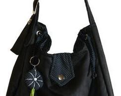 Bolsa tecido camur�a preta