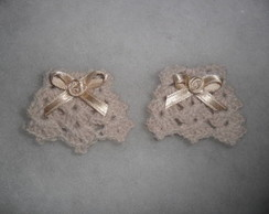 Mini Vestidinhos com flor cetim