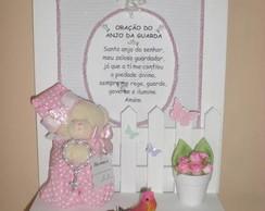 Porta Maternidade Quadro Ora��o com Urso