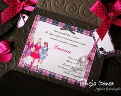 Convite Bolsinha - Barbie