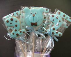 Biscoito decorado - Urso Azul e Marrom