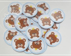 Topper cupcake Urso Real