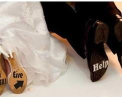 Adesivo para sapato do noivo ou da noiva