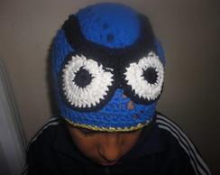 touca azul em croch�