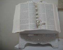 Porta b�blia com missangas e p�rolas