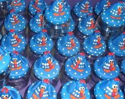potinhos decorados em biscuit