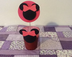 TOPPERS PARA CUPCAKES MINIE ROSA