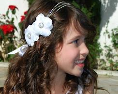 Headband DAMA DE HONRA c/ 02 flores