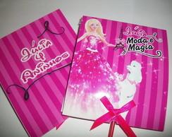 Capa para pirulito Barbie Moda e Magia.