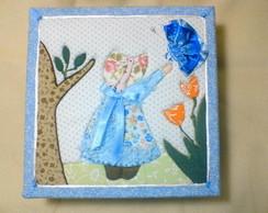 Caixa MDF decorada em patchwork