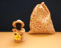 Mini Boneca de Pano Camponesa