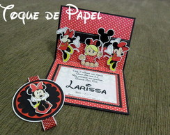 Convite Pop-up (3d) Minnie