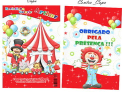 Revistinha colorir tema circo