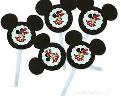 Totens para cupcakes [MInnie Mickey]