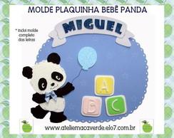 MOLDE ENFEITE DE PORTA BEB� PANDA