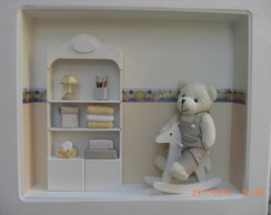 Quadro porta de maternidade urso