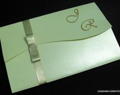 Convite de Casamento Jornal Perolado