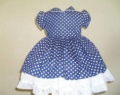 Vestido bolinha azul
