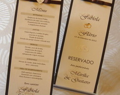 MENU E RESERVA DE MESA (kit)