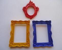 trio moderno colorido em resina