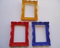 trio molduras coloridas retangular