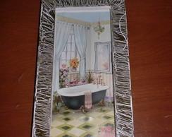 Quadro arte francesa - Banheiro
