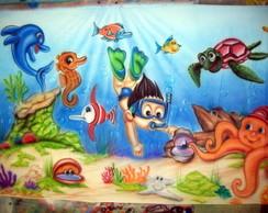 Painel Fundo do Mar