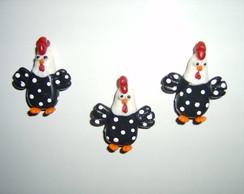 �m� de geladeira - trio galinha d'angola