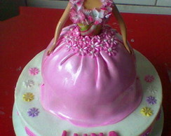 Bolo Decorado da Barbie