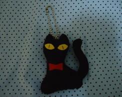 chaveiro de feltro gato preto