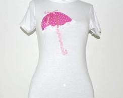 Camiseta- Sombrinha Rosa