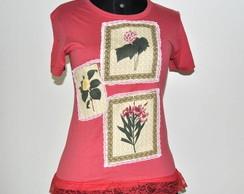 Camiseta -  3 Quadros Flores
