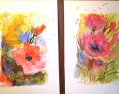 explos�o das cores - ( aquarela)