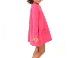 Vestido de moletom flanelado pink l�lli