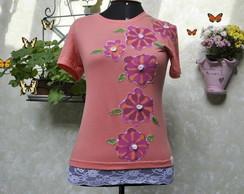 Camiseta - 6 flores