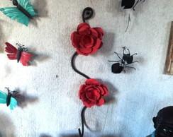 cabide flor chapa e ferro