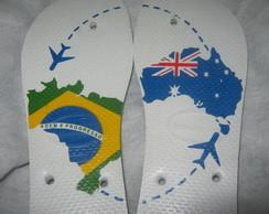 HAV. TOP BANDEIRA DO BRASIL X AUSTR�LIA