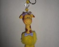Chaveiro Girafa de Pel�cia