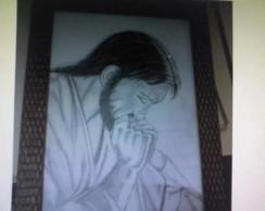 Desenho em Grafite-Canson A3 Jesus