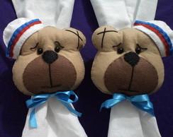 Prendedor cortina rosto urso marinheiro