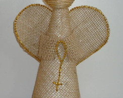 Anjo de Juta Dourado